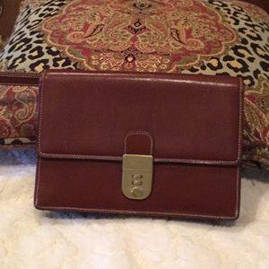 Bally Vintage Brown Leather Man Bag